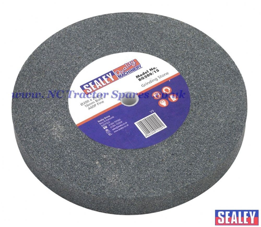 Grinding Stone 200 x 25mm 16mm Bore A60P Fine